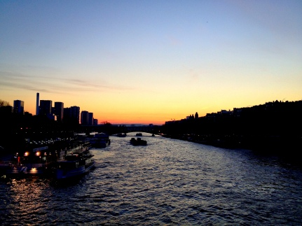 Sunset in Seine