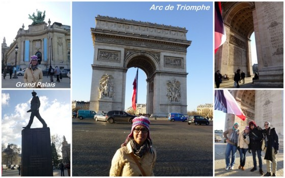 Grand Palais & Arc de Triomphe