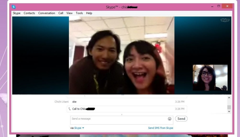 video call with Chika and Mas Gum!