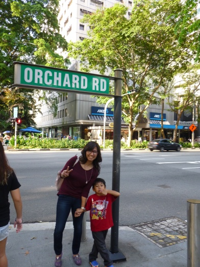 at the famous Orchard Road!
