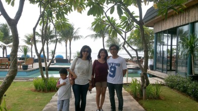 with bro and sist at Segara, Ancol