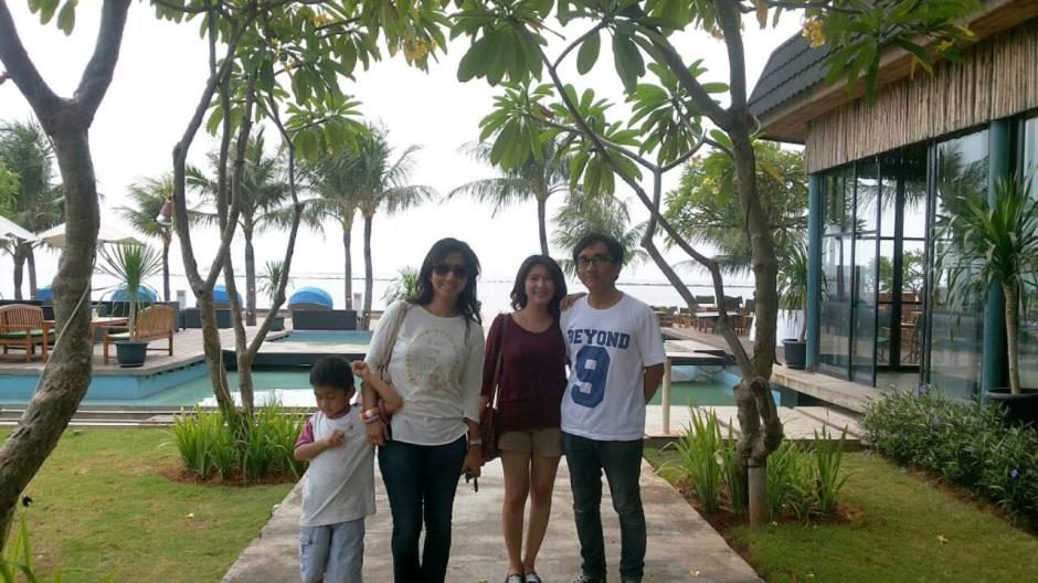 with bro and sist at Segara, Ancol