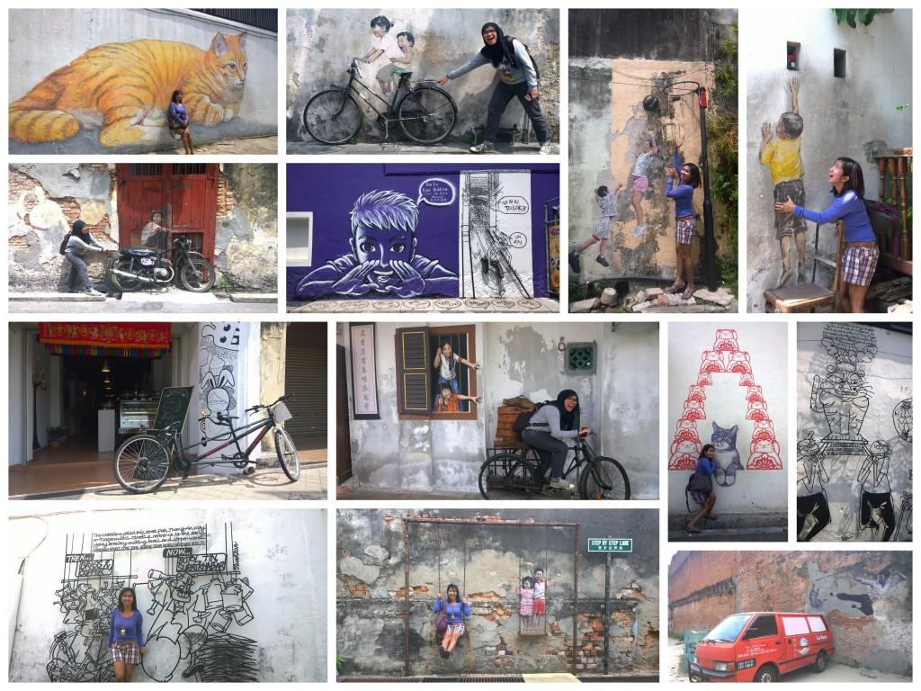 The Street Art around George Town Heritage City