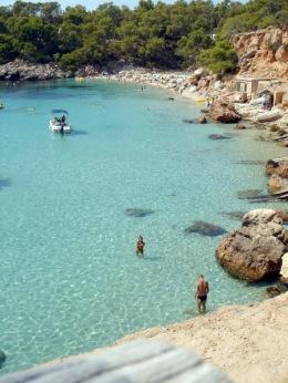 Eivissa, Cala Salada, at north of Sant Antoni de Portmany