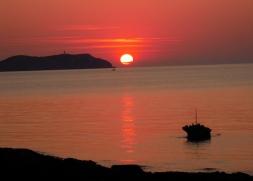 Sun set across Sant Antoni Bay